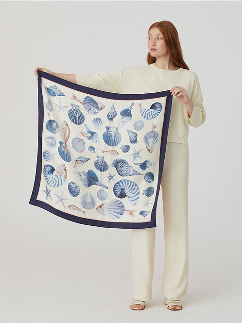 Poissons & Coquillages scarf