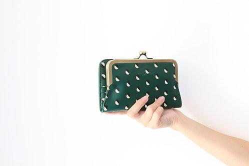 Splitted Small Dot Frame Wallet