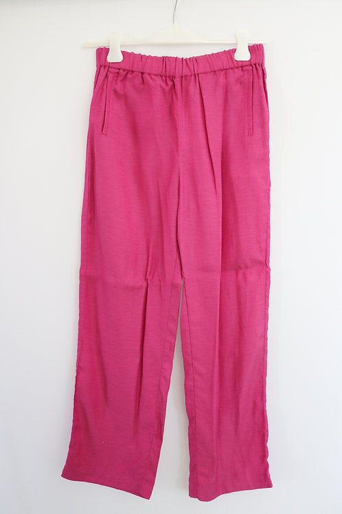 Viscose Linen Basic Trousers