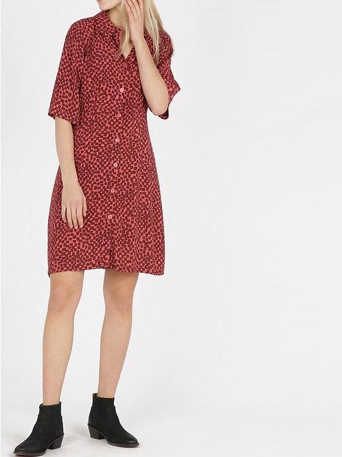 Irregular Checks Print Shirt Dress