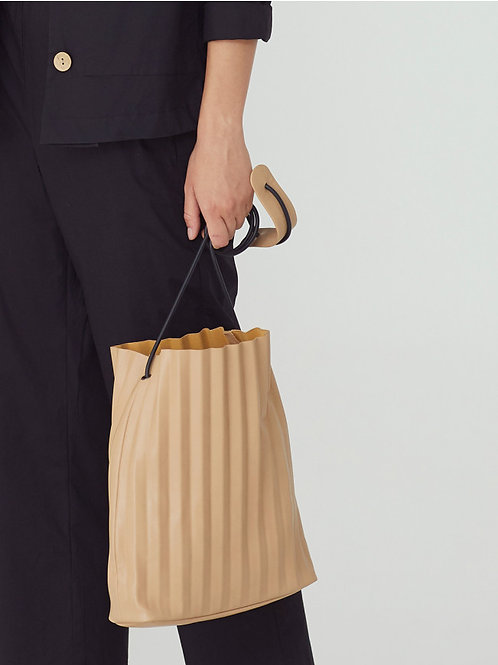 Pleated cross-body bag