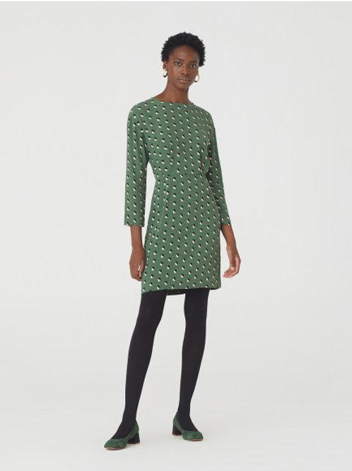 Split Small Print Short Dress