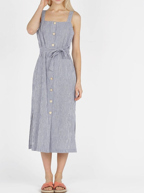 Fancy Fabric Sleeveless Dress