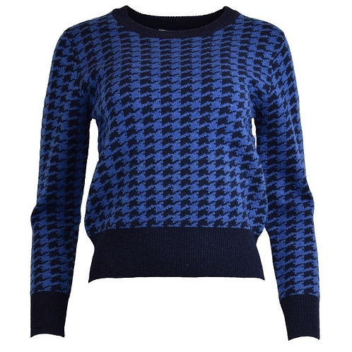 Houndstooth Lambswool Sweater