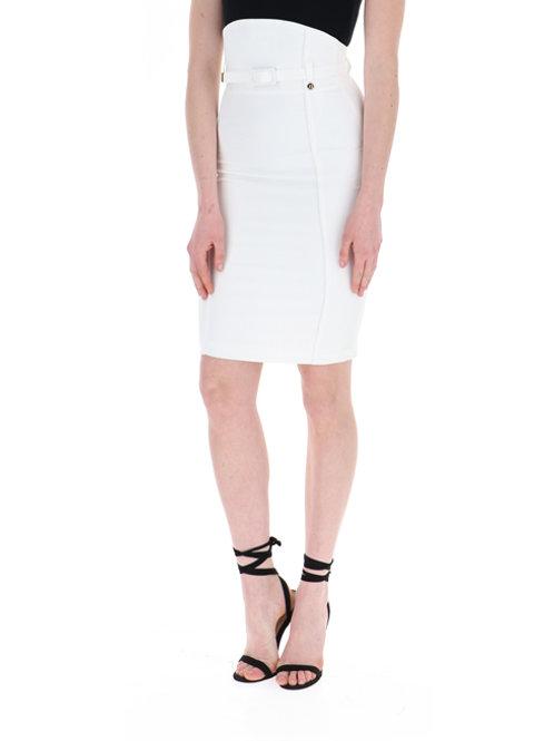 Sheath skirt with belt