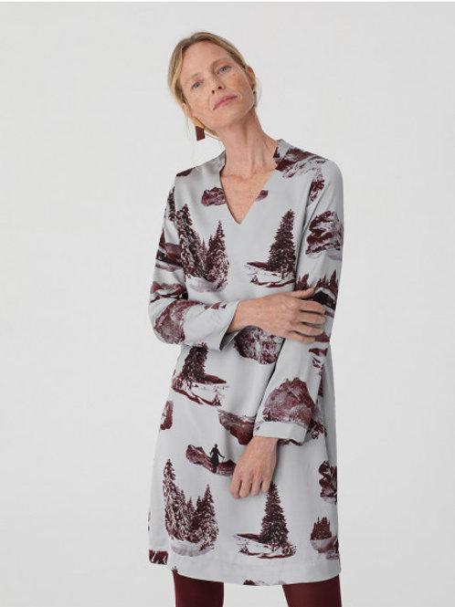 High mountain print dress