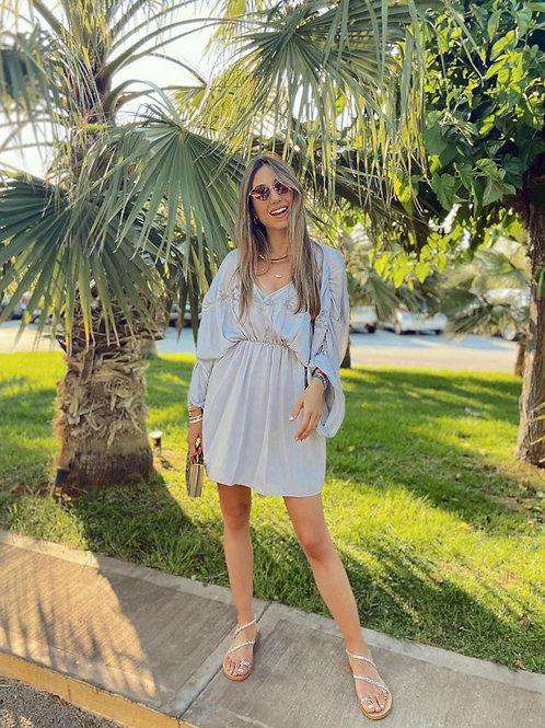 Mini Dress Light Grey
