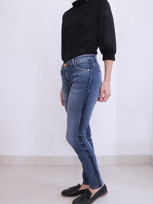 Jeans with Glitter Detail