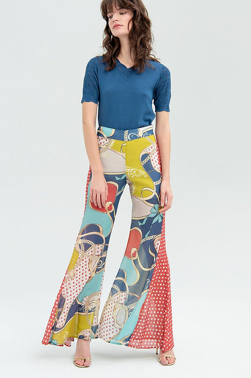 Maxi Flare Pant Mix Fantasy Earth