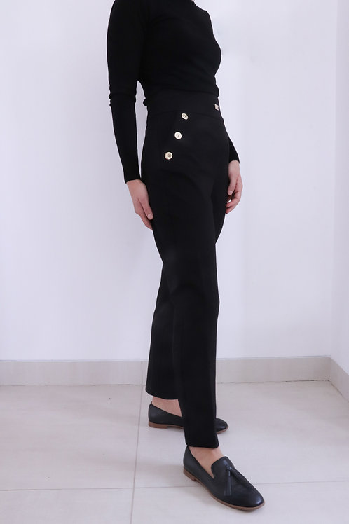 High Waist Pants with Gold Details