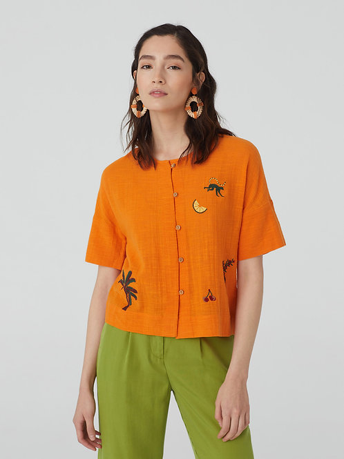 Monkey Town Embroidered Top