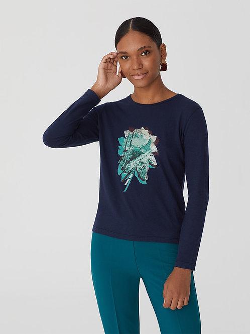 Digital alpine flower print t-shirt