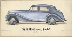 12 - H. J. Mulliner Bentley Cresta (Bentley V with long wheelbase chassis and 8-cyl engine)