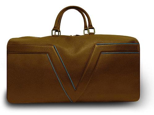 Brown - Travel Bag VLx - Blue Outlines