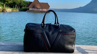 sac de voyage cuir noir
