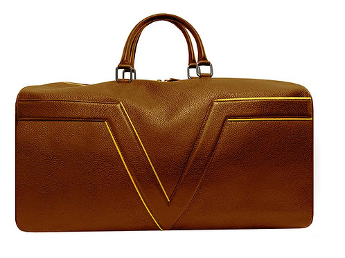 York Leather Travel Bag VLx - Yellow Outlines
