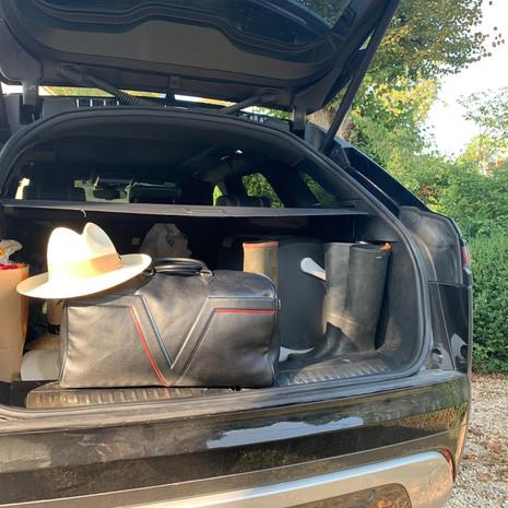 Sac de voyage - départ pour le weekend à la campagne