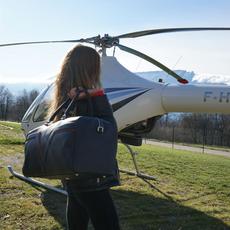 sac de voyage en helicoptere