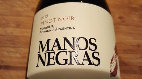 Manos Negras 2015. Po Pinot Noir do Patagonii