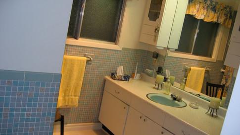 BEFORE mid-century bathroom