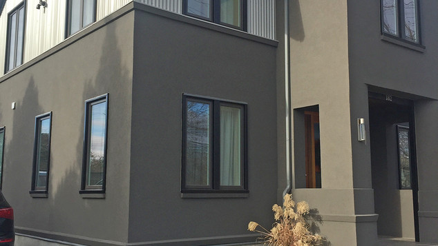 Stucco exterior on mid-town residence