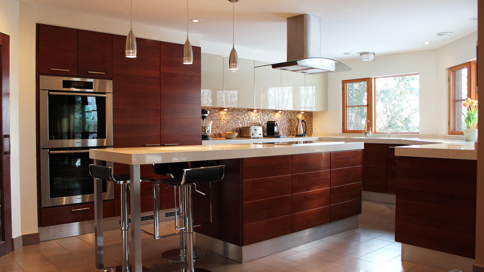 AFTER mid-century kitchen