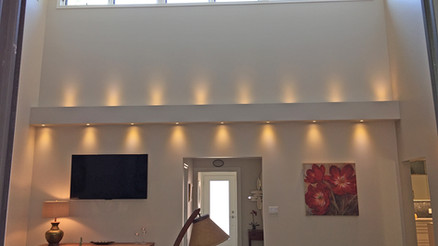 Lighting and wall treatments
