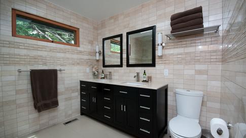 AFTER mid-century bathroom