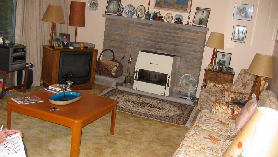 BEFORE mid-century livingroom