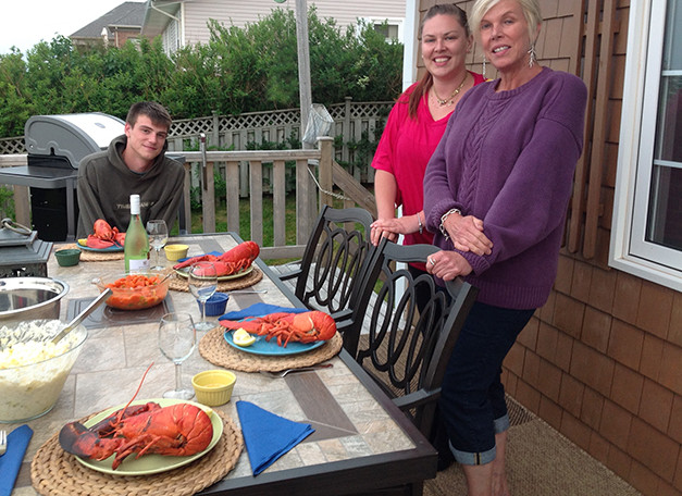 Lobster on the barbee
