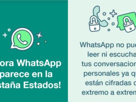 ¿Por qué WhatsApp ahora aparece en los 'estados' de sus usuarios?