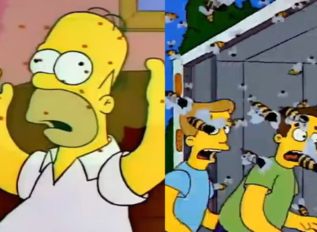 Los Simpson predijeron la invasión de avispones asesinos en Estados Unidos