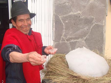 El último hielero del Chimborazo, Baltazar Ushca, ya recibió su vacuna contra el COVID-19