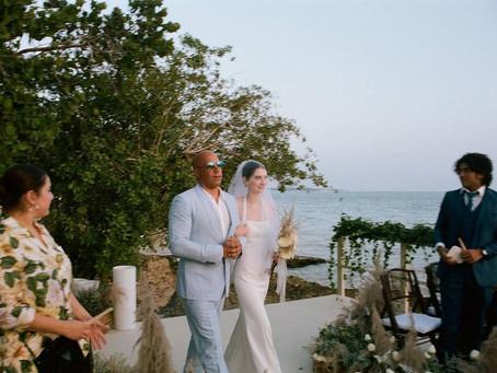 Vin Diesel entrega en el altar a la hija de Paul Walker en su boda