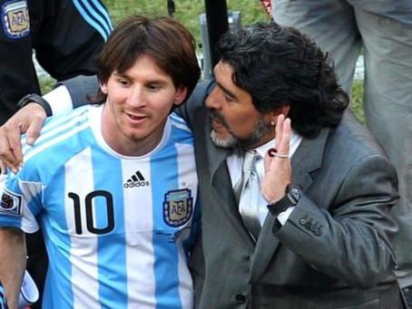 El emotivo mensaje de Messi tras conocer la muerte de Maradona