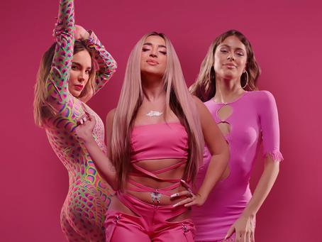 Lola Índigo, Belinda y Tini, el trío de superpoderosas del momento