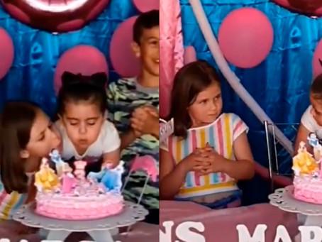 Hermanas que pelearon en cumpleaños apagaron 500 velas en programa de TV