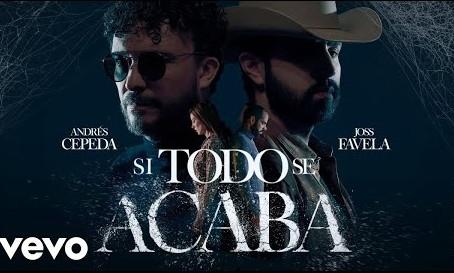 Andrés Cepeda y el mexicano Joss Favela estrenaron 'Si todo se acaba'