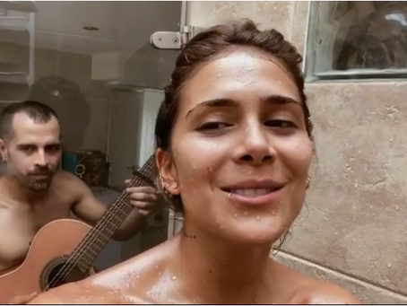 Greeicy Rendón y Mike Bahía dejaron ver más de la cuenta cantando en la ducha