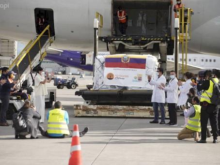Llegó a Ecuador el primer lote de las vacunas contra el COVID-19