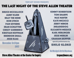 """poster for """"Last Night at Steve Allen Theater"""""""