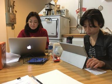 Yoriko and Nao production meeting