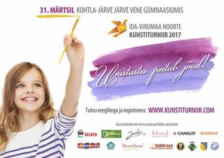 Ida-Virumaa noorte kunstiturniir 2017 innustab unistama!