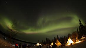 極地黃刀.北極光攝影