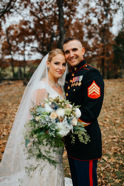 Rustic-military wedding in Preston, Missouri
