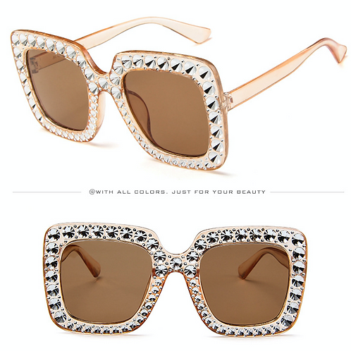 PINK LUXURY DIAMOND SUNGLASSES