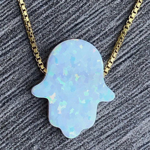 HAND BLUE NECKLACE