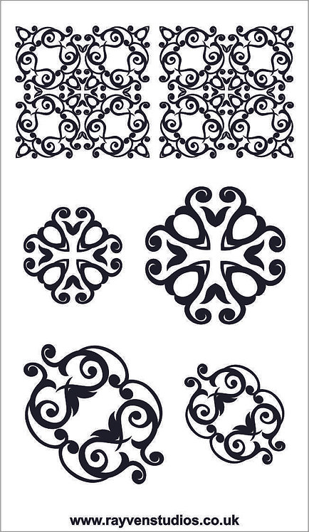 Texture Mat - Pendant & Earring set