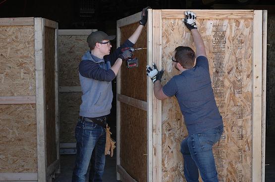 Kirkwood Crates company buiding shipping crates