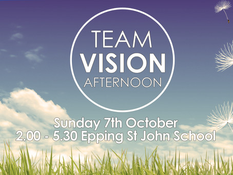 Vision Afternoon: Sunday 7th October